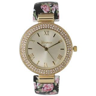 Olivia Pratt Ceramic Floral Bangle Watch