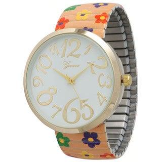 Olivia Pratt Floral Strechband Watch