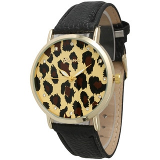 Olivia Pratt Cheetah Print Face Watch