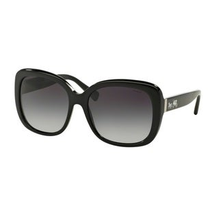 Coach HC8158F  L559 500211 Black Womens Plastic Square Sunglasses
