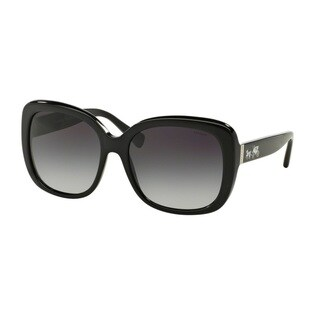 Coach HC8158F L559 500211 Black Womens Plastic Square Sunglasses
