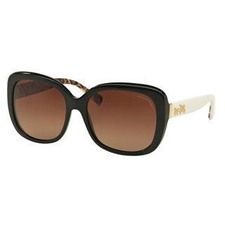 Coach HC8158F L559 5336T5 Black Womens Plastic Square Sunglasses