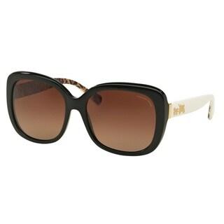 Coach HC8158 L139 5336T5 Black Womens Plastic Square Sunglasses