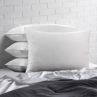 Signature Allergy Resistant Down-Alternative Gel Fiber Pillow (Set of 4) - White