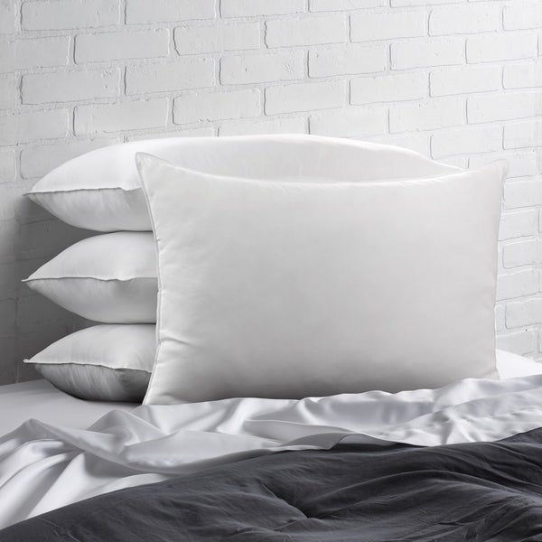 Signature Allergy Resistant Down-Alternative Gel Fiber Pillow (Set of 4) - White. Opens flyout.
