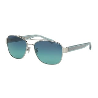 Coach HC7064 L151 92664S Silver Womens Metal Aviator Sunglasses
