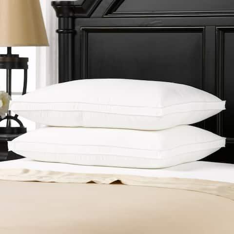 Luxury Plush Gusseted Down-Alternative Gel Fiber Pillow (Set of 2)