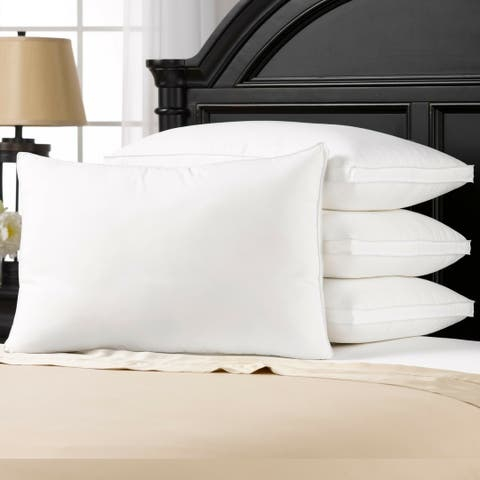 Luxury Plush Gusseted Down-Alternative Gel Fiber Pillow (Set of 4)