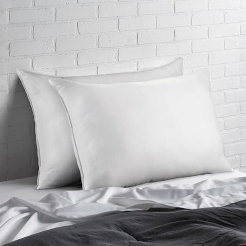 Signature Allergy Resistant Down-Alternative Gel Fiber Pillow (Set of 2) - White