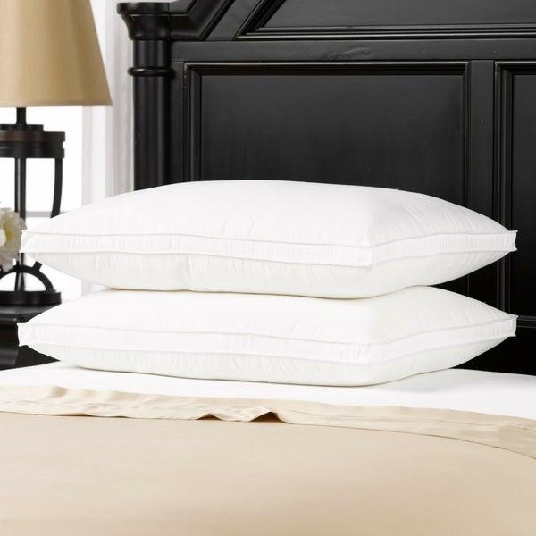 Luxury Plush Gusseted Down-Alternative Gel Fiber Queen-Size Pillow (Set of 2)