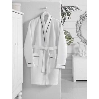 Turkish Cotton Kimono Short Waffle Bath Robe