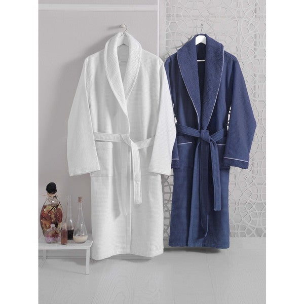 8384920ab7 Shop Luxurious Waffle Terry Turkish Cotton Bath Robe - On Sale ...