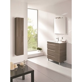 Eviva Vitta Ash 24-inch Integrated Porcelain Sink Single Bathroom Vanity