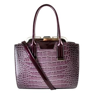 Rimen & Co. Shiny Animal Print Doctor Style Medium Fashion Tablet Tote Bag
