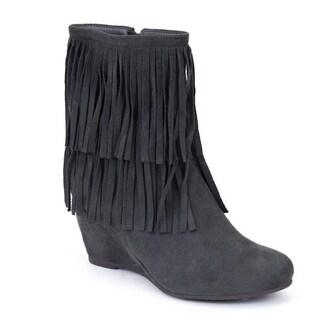 Gc Shoes Women's Ruffle Up Grey Booties