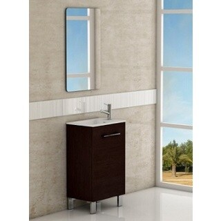 Eviva Kandy 20-inch Wenge White Acrylic Single Sink Bathroom Vanity - Wenge White