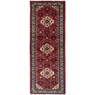 ecarpetgallery Hand-Knotted Hosseinabad Orange Wool Rug (2'5 x 6'5)
