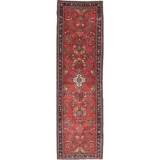 ecarpetgallery Hand-Knotted Lilihan Orange Wool Rug (2'8 x 9'8)