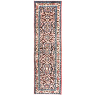 ecarpetgallery Hand-Knotted Roodbar Pink Wool Rug (2'9 x 9'6)