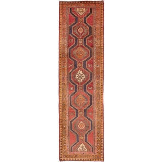 ecarpetgallery Hand-Knotted Persian Vintage Brown Wool Rug (3'3 x 12'9)