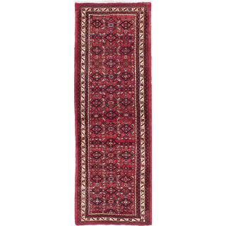 ecarpetgallery Hand-Knotted Hosseinabad Red Wool Rug (2'3 x 6'7)