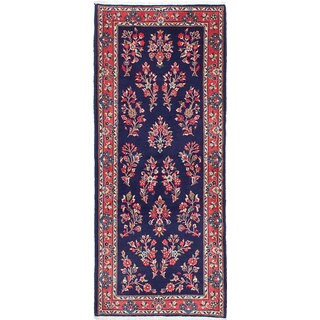 ecarpetgallery Hand-Knotted Sarough Blue Wool Rug (2'8 x 6'7)