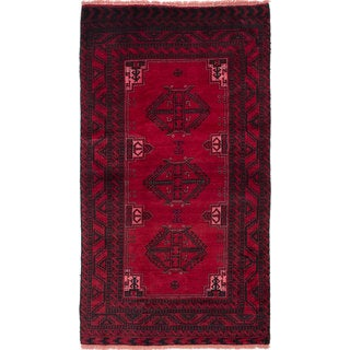 ecarpetgallery Hand-Knotted Finest Baluch Red Wool Rug (4'3 x 7'6)