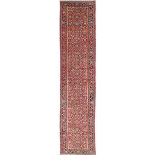 ecarpetgallery Hand-Knotted Hosseinabad Brown Wool Rug (2'8 x 12'0)