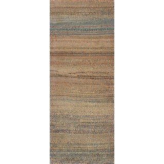 ecarpetgallery Hand-Knotted Persian Gabbeh Blue, Yellow Wool Rug (3'0 x 7'10)