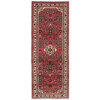 ecarpetgallery Hand-Knotted Hosseinabad Red Wool Rug (2'4 x 6'3)