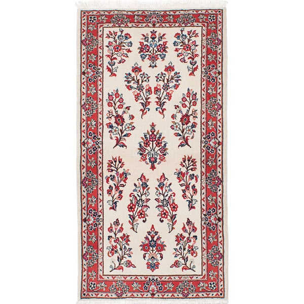 ecarpetgallery Hand-Knotted Sarough Blue Wool Rug (2'8 x 5'3)