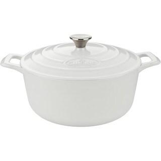 La Cuisine White Enamel/Cast Iron 2.2-quart Round Casserole Dish