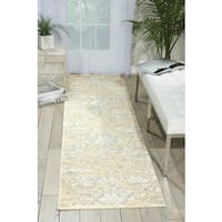 Nourison Luminance Bone Area Rug - 2'3 x 8'