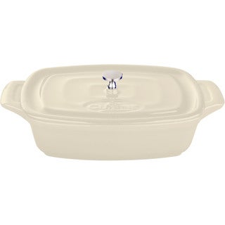 La Cuisine Cream 7-inch Mini Rectangular Cast Iron Casserole