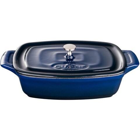 La Cuisine Blue Cast Iron 7-inch Mini Rectangular Casserole