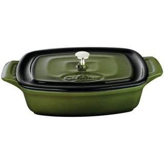 La Cuisine Green Cast Iron 7-inch Mini Rectangular Casserole