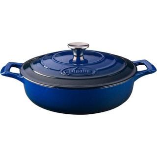 La Cuisine PRO Saute Blue Enamel Finish Cast-iron 3.75-quart Casserole Dish