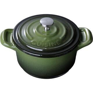 LaCuisine Green Mini Round 4-inch Cast Iron Casserole
