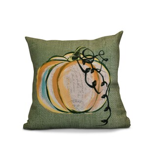 20 x 20-inch Pumpkin Fest Geometric Print Pillow