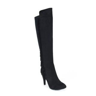 Gc Shoes Women's Dixie Black Knee-High Boots