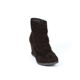 Gc Shoes Women's Madeline Brown Wedge Booties