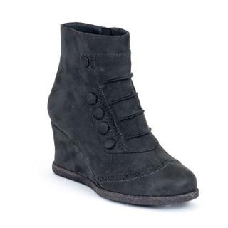Gc Shoes Women's Madeline Grey Wedge Booties