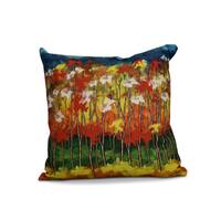 20 x 20-inch Autumn Floral Print Pillow