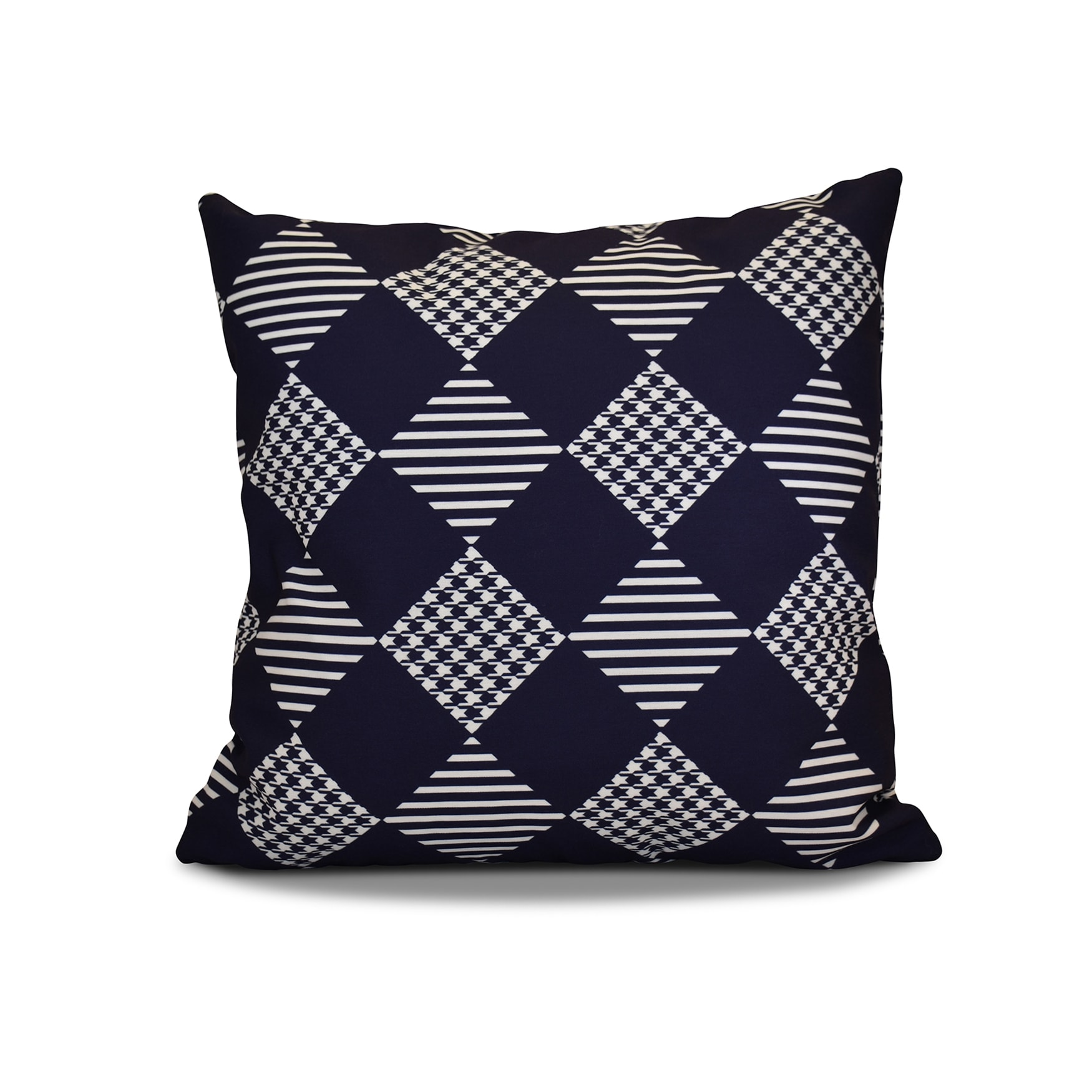 20 x 20-inch Check It Twice Geometric Holiday Print Pillow (Teal)