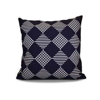 20 x 20-inch Check It Twice Geometric Holiday Print Pillow
