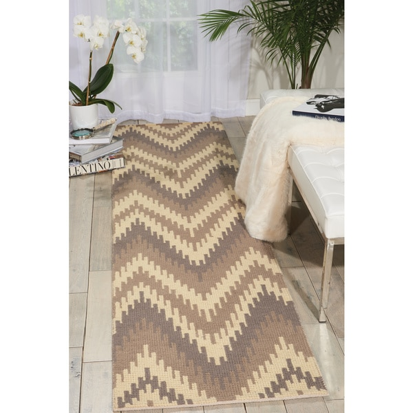 """Barclay Butera Prism Sand Dune Area Rug (2'3 x 8') by Nourison - 2'3""""x 8'"""