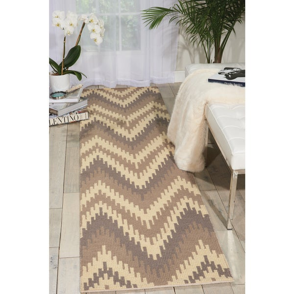 Barclay Butera Prism Sand Dune Area Rug - 2'3 x 8' by Nourison