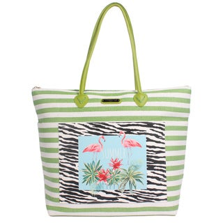 Nicole Lee Minnie Green Beach Tote Bag