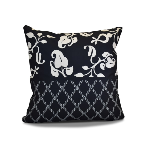 20 x 20-inch Scroll Dot Floral Holiday Print Pillow