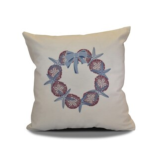 20 x 20-inch SS Wreath Holiday Geometric Print Pillow